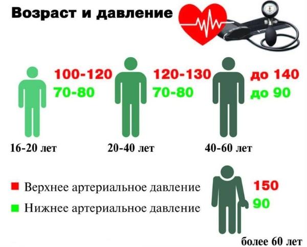 Давление человека. Норма по возрасту, весу, пульсу: таблица. Как повысить, понизить давление