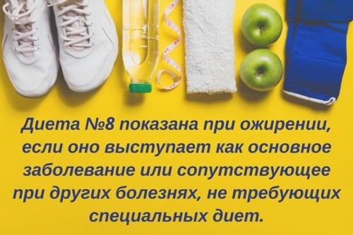 Стол №8. Диета при ожирении, меню на неделю, рецепты блюд для похудения. Таблица продуктов для детей и взрослых