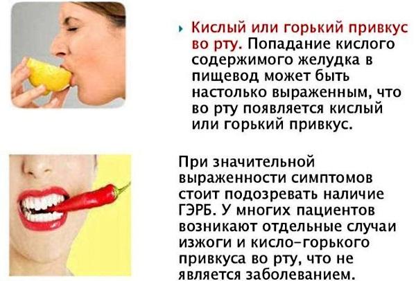 Кислый привкус во рту после еды, с изжогой и без, желтым и белым налетом на языке. Причины и лечение