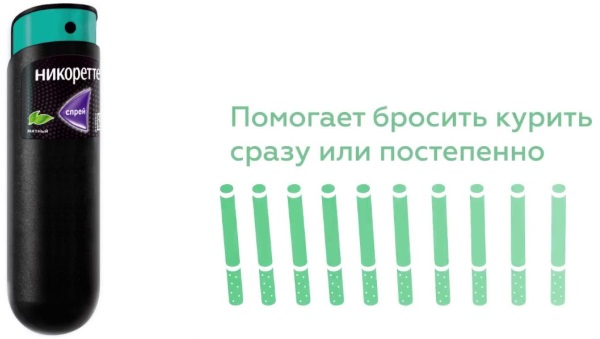 Спрей Никоретте. Инструкция по применению, результаты применения, отзывы курильщиков и врачей