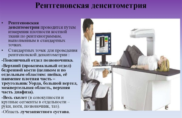 Денситометрия. Что это такое, УЗИ костей, рентгеновская, КТ. Как подготовится, проводится исследование, цена. Расшифровка результатов