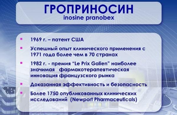 Гроприносин. Инструкция по применению 500 мг для детей, взрослых. Цена, аналоги