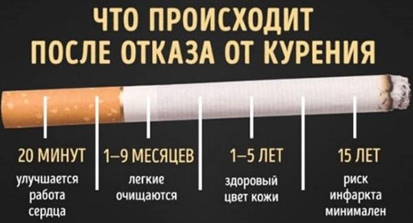 Изменения в организме после отказа от курения по дням, месяцам. Последствия, что происходит