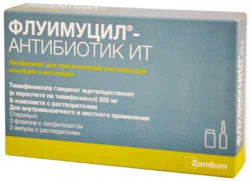 Флуимуцил ИТ антибиотик для ингаляций. Инструкция по применению, как разводить