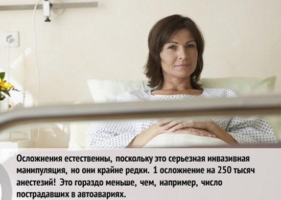Последствия наркоза на организм женщины после операции, выскабливания, кесарева сечения, в пожилом возрасте