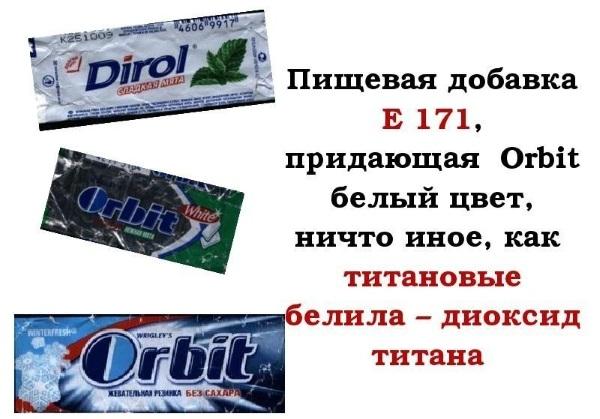 Диоксид титана. Влияние на организм человека в зубной пасте, косметике, еде, кондитерской промышленности, таблетках