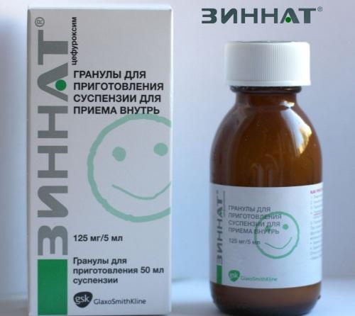 Зиннат (Zinnat) антибиотик для детей суспензия. Инструкция по применению, цена