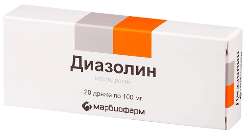 Диазолин (Diazolin) таблетки. Цена, инструкция по применению, аналоги