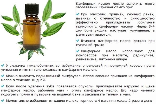 Камфорный спирт (Camphor spiritus). Применение для ушей взрослым, детям, инструкция, аналоги