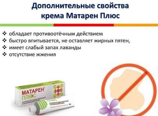 Матарен плюс (Mataren plus) мазь. Отзывы, инструкция, аналоги, цена
