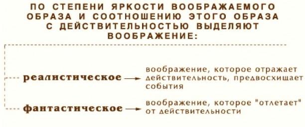 Воображение в психологии. Виды, что это такое, определение, свойства, функции, классификация, примеры, нарушения