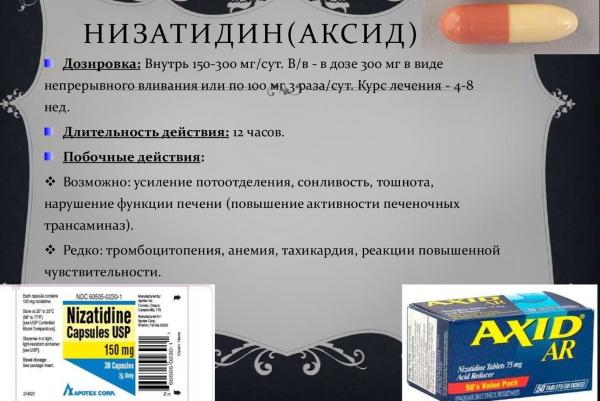Н2 блокаторы гистаминовых рецепторов. Список препаратов, механизм действия