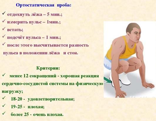 Ортостатическая проба и методика ее выполнения спортсменам, детям, пожилым